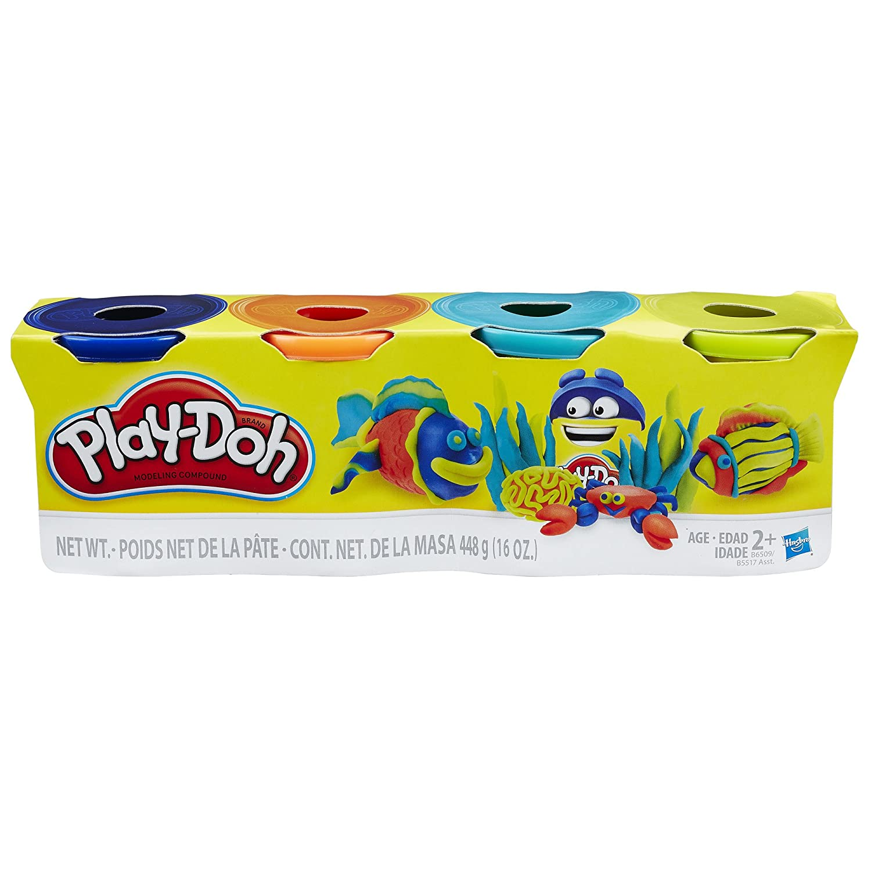 Dark Blue Neon Blue Hasbro Play-Doh B6509ES0/Pack of 4 Neon Green, Orange
