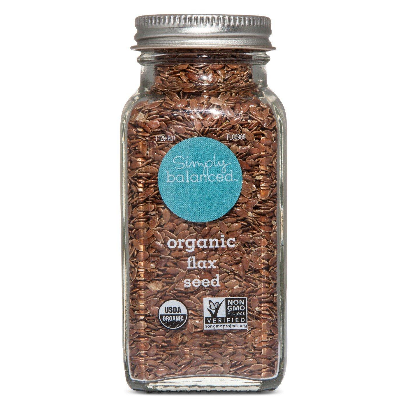 Organic Flax Seed - 3.8oz - Simply Balanced