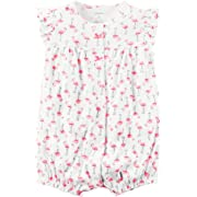 Carter's Baby Girls' Flamingo Printed Snap Up Romper 9 Months