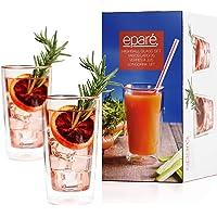 Ensemble de verres isothermes Éparé (12 oz, 350 ml) – verres thermiques à double paroi – idéal pour le café, les cocktails, l'eau, la bière, le thé ou le jus – 2 verres