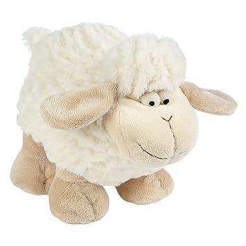 Betz Peluche oveja Elfie color blanco tamaño 27cm