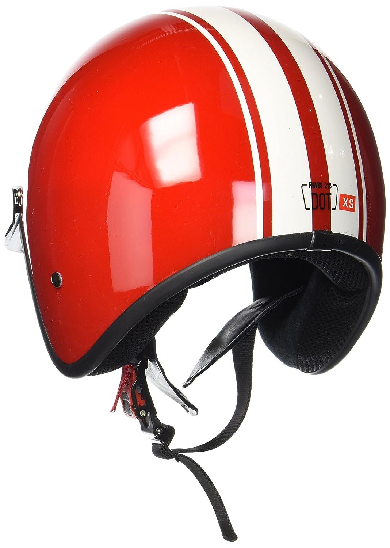 "57-58cm black Armor /· AV-47 /""Black White/"" /· Casco moto Demi Jet /· Retro motocicleta Urban Urbano Helmet Scooter /· DOT certificado /· Click-n-Secure/™ Clip /· Bolsa de transporte /· M"