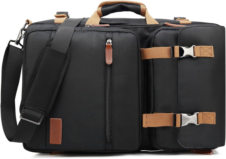 CoolBELL Convertible Briefcase Backpack Messenger Bag Shoulder Bag Laptop Case Business Briefcase Travel Rucksack Multi-Functional Handbag Fits 15.6 Inch Laptop for Men/Women (Black)