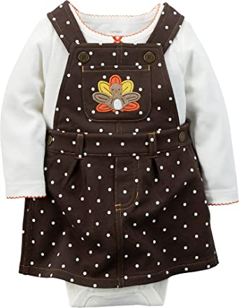 67cd4802f12 Amazon.com  Carter s Baby Girls  Thanksgiving 2-piece Jumper Set ...