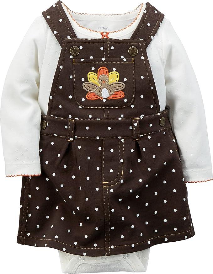 89cd4eb7d Amazon.com  Carter s Baby Girls  Thanksgiving 2-piece Jumper Set ...