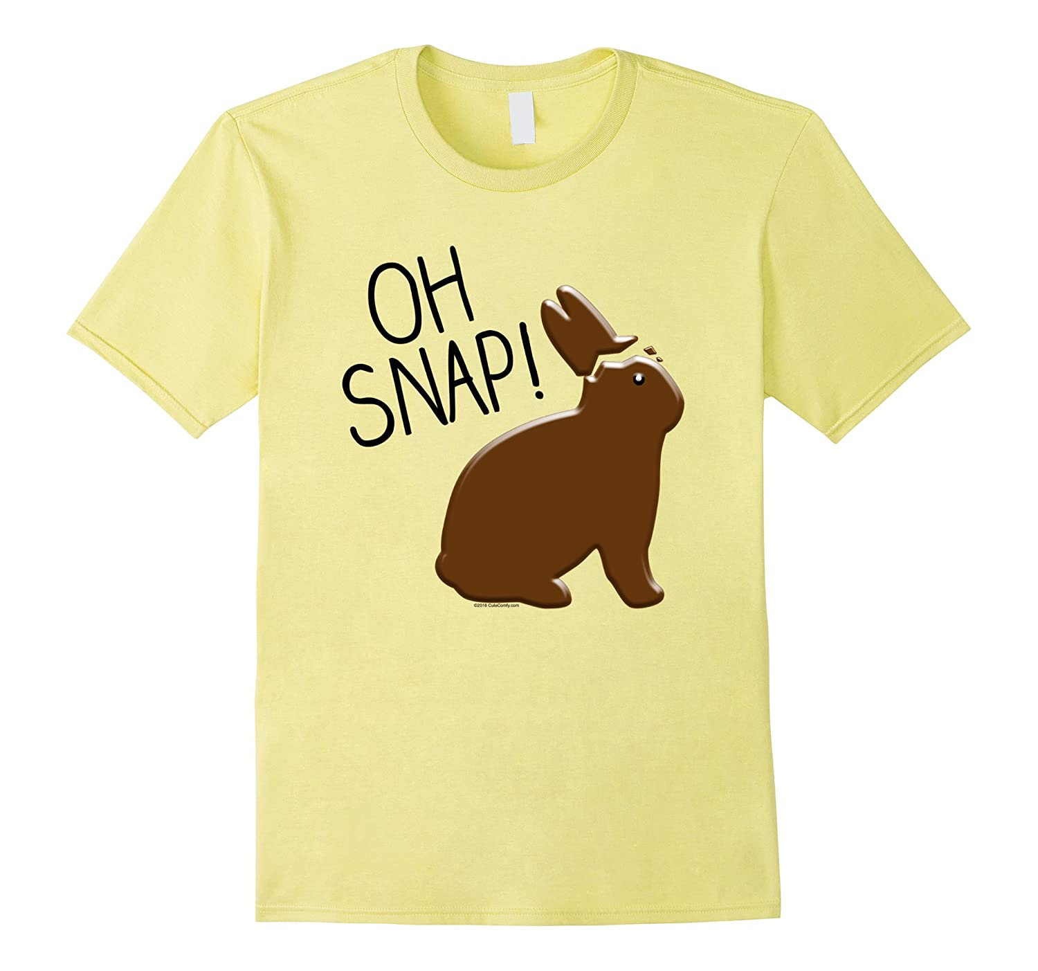 Oh Snap Funny Chocolate Bunny Easter T-Shirt for Boys Mens-CD