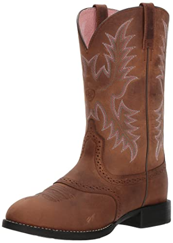 Ariat Women's Women's Heritage Stockman Western Boot, Driftwood Brown/Driftwood  Brown, ...