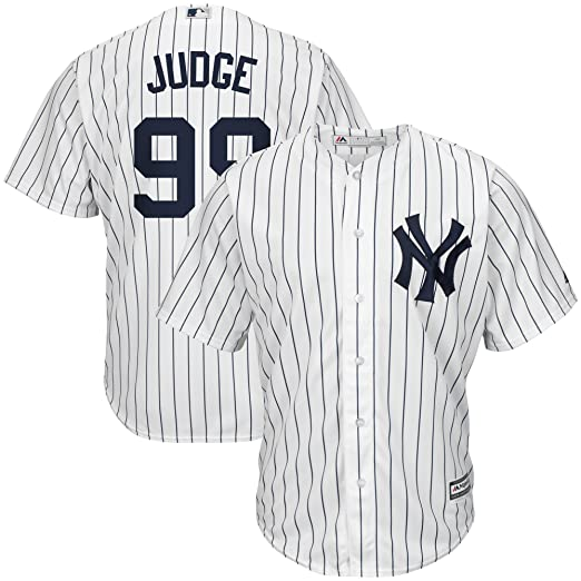 cae4f28e1 Majestic Aaron Judge New York Yankees MLB Kids White Home Cool Base Replica  Jersey (Kids