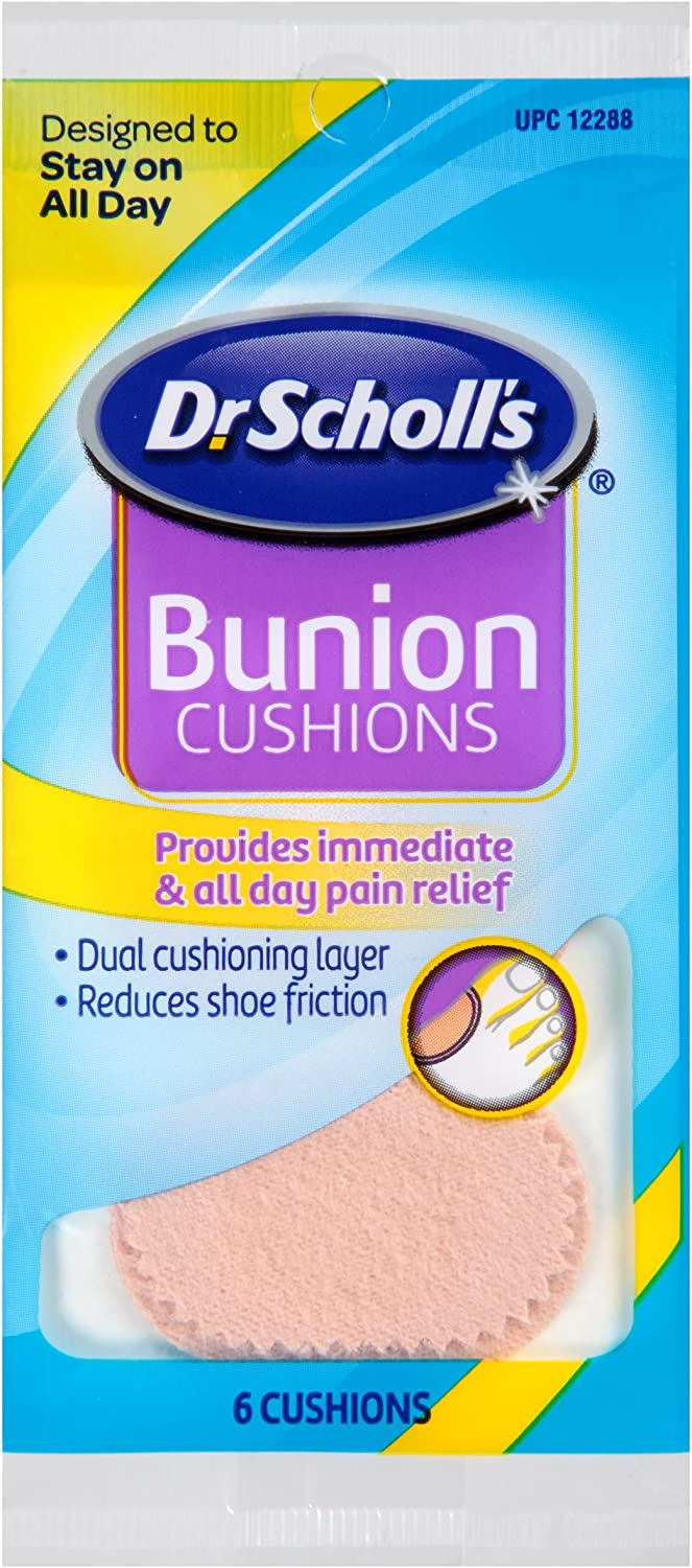 Dr. Scholl's Bunion Cushions, 6ct (Pack of 8) // Dual Cushioning Layer Provides Immediate and All-Day Bunion Pain Relief by Reducing Shoe Pressure and Friction: Health & Personal Care