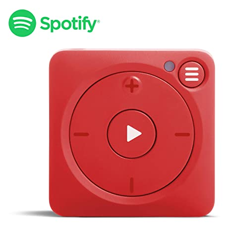 Mighty Vibe Spotify Music Player - Bluetooth & Wired Headphones - 8GB  Storage - No Phone Needed - Mooshu Red
