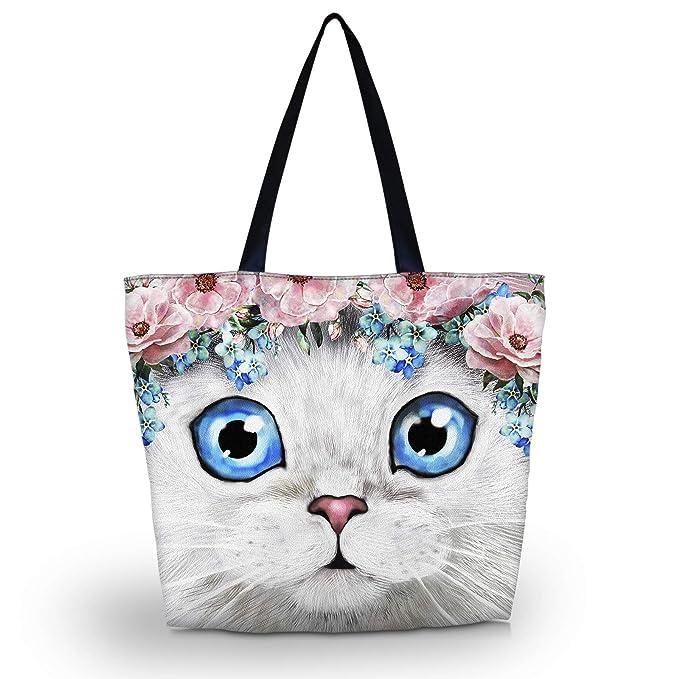 5eac04be2339 Amazon.com  Beach Tote Bags Travel Totes Bag Shopping Zippered Tote for  Women Foldable Waterproof Overnight Handbag (SB-7877)  newplenty