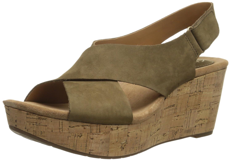 Amazon.com | Clarks Women's Caslynn Shae Wedge Sandal | Platforms & Wedges