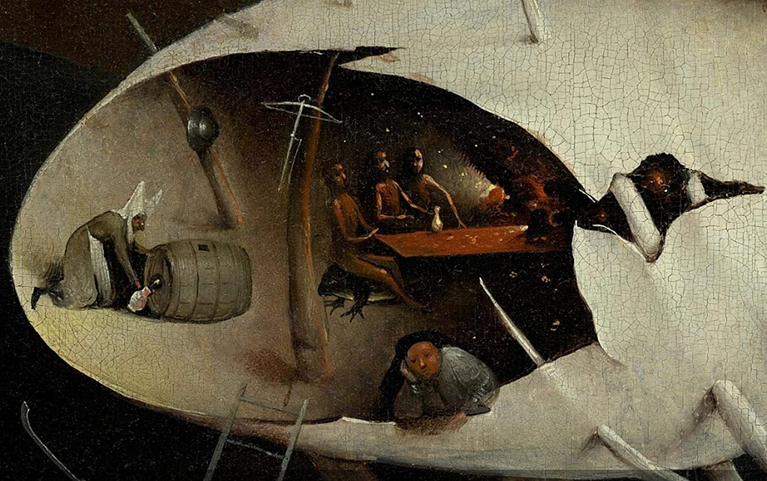 Bosch Hieronymus The Garden of Earthly Delights Right Panel Detail Inside The Tree Man Puzzles Jigsaw 1000 Piece