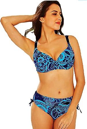 Maillot de Bain Femme 2 Pi/èce Bikini Grande Taille Armatures