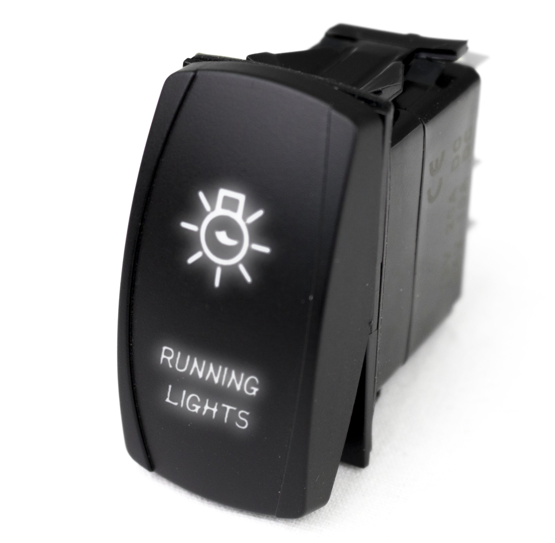 Race Sport LED Rocker Switch with White LED Radiance - Running Lights