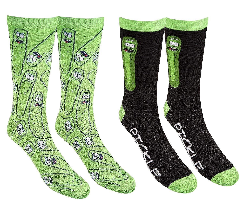 Mens Rick And Morty Casual Crew Socks