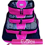 Packing Cubes | Travel Packing Cubes, 4pc Set | Packing Cubes for Travel |Luggage (Pink)