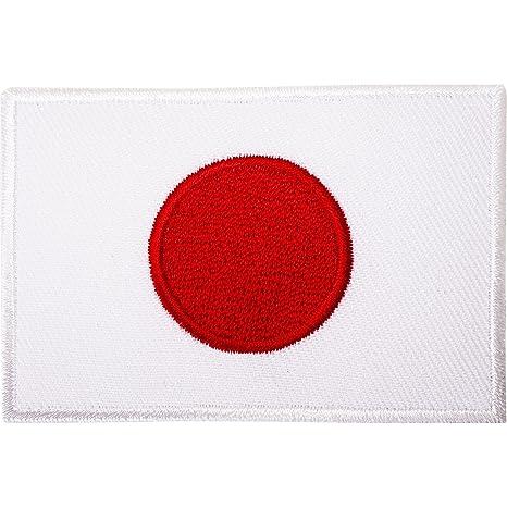 Bandera de Japón parche hierro/sew en bordado japonés Karate Gi ...