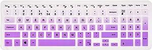 Keyboard Cover for Dell Inspiron 15 3000 5000 7000 Series/Dell Inspiron 17 5000 3000 Series/Dell G3 15 17 Series/Dell G5 15 Series/Dell G7 15 17 7786 7790 Series - Gradual Purple