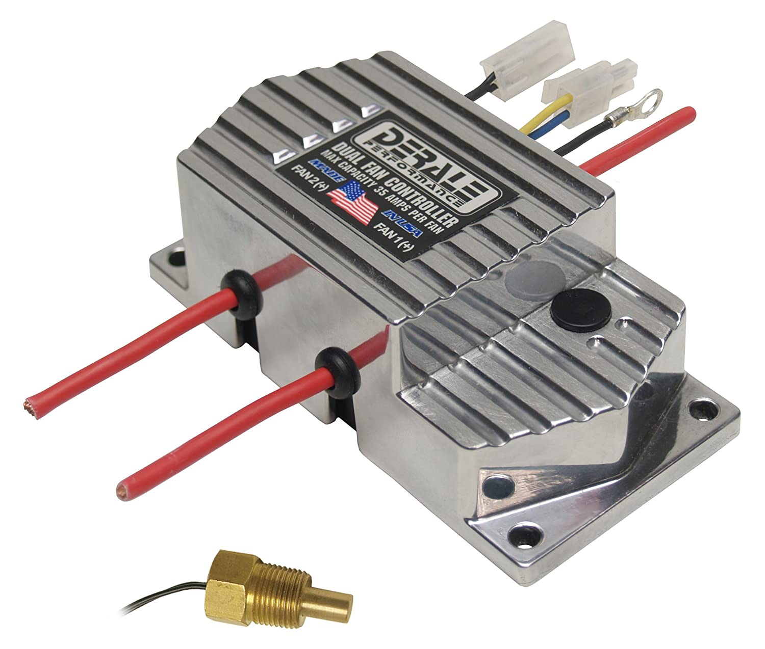 Derale 16789 High Amperage Dual Fan Controller with 3/8' NPT Thread In Probe