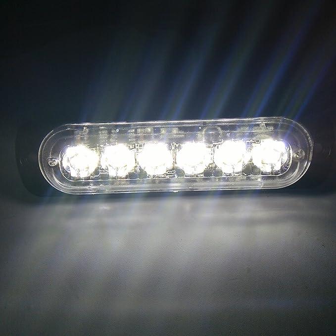 Viktion 12V 16W 8 LEDs Feux de P/én/étration Lumi/ère Stroboscopique Eclairage Clignotant avec 3 Modes pour Voiture Camion v/éhicule SUV Lampe Rouge
