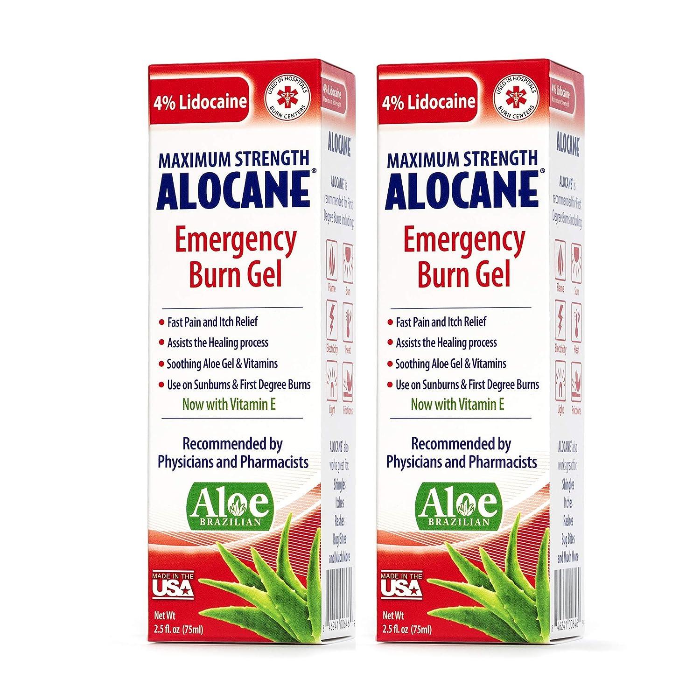 Alocane® Emergency Burn Gel, 4% Lidocaine Max Strength Fast Pain Itch  Relief for Minor Burns, Sunburn,