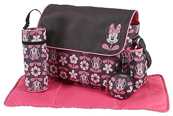 Amazon.com   Disney Minnie Mouse Multi Piece Diaper Bag with Flap ... 0d69a79e90efc