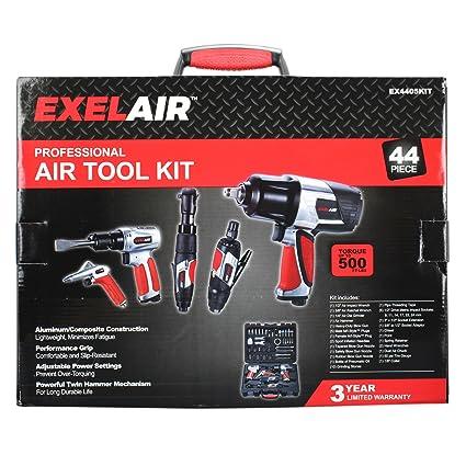0697e49fcc5 EXELAIR by Milton EX4405KIT (44-Piece Professional Air Tool Accessory Kit)  - Impact