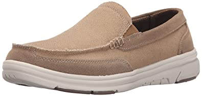 Dr. Scholl's Men's Grand Slip-On, Tan Canvas and Leather, ...