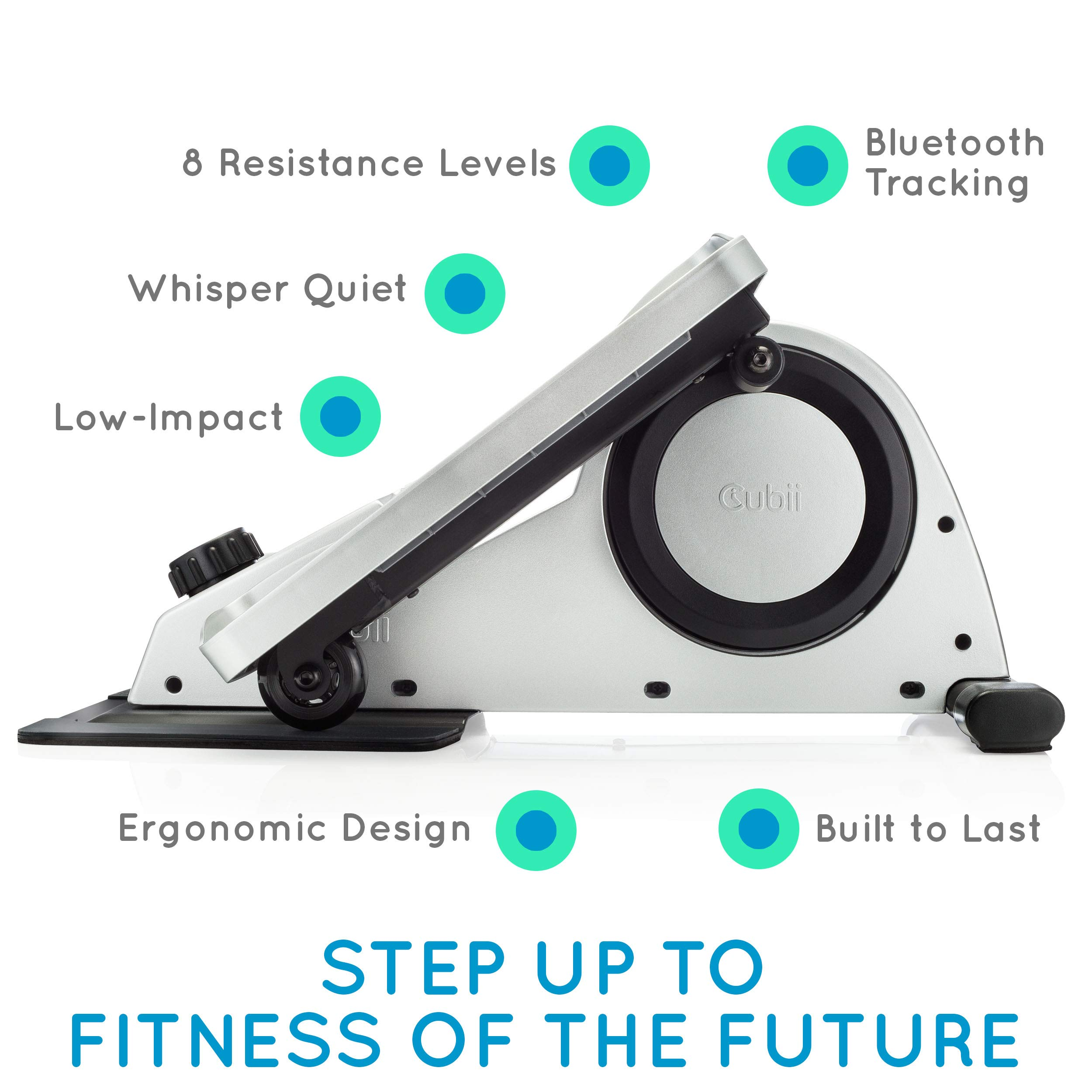Cubii Under Desk Elliptical, Bluetooth Enabled, Sync w/ FitBit and HealthKit, Adjustable Resistance, Easy Assembly by Cubii (Image #2)