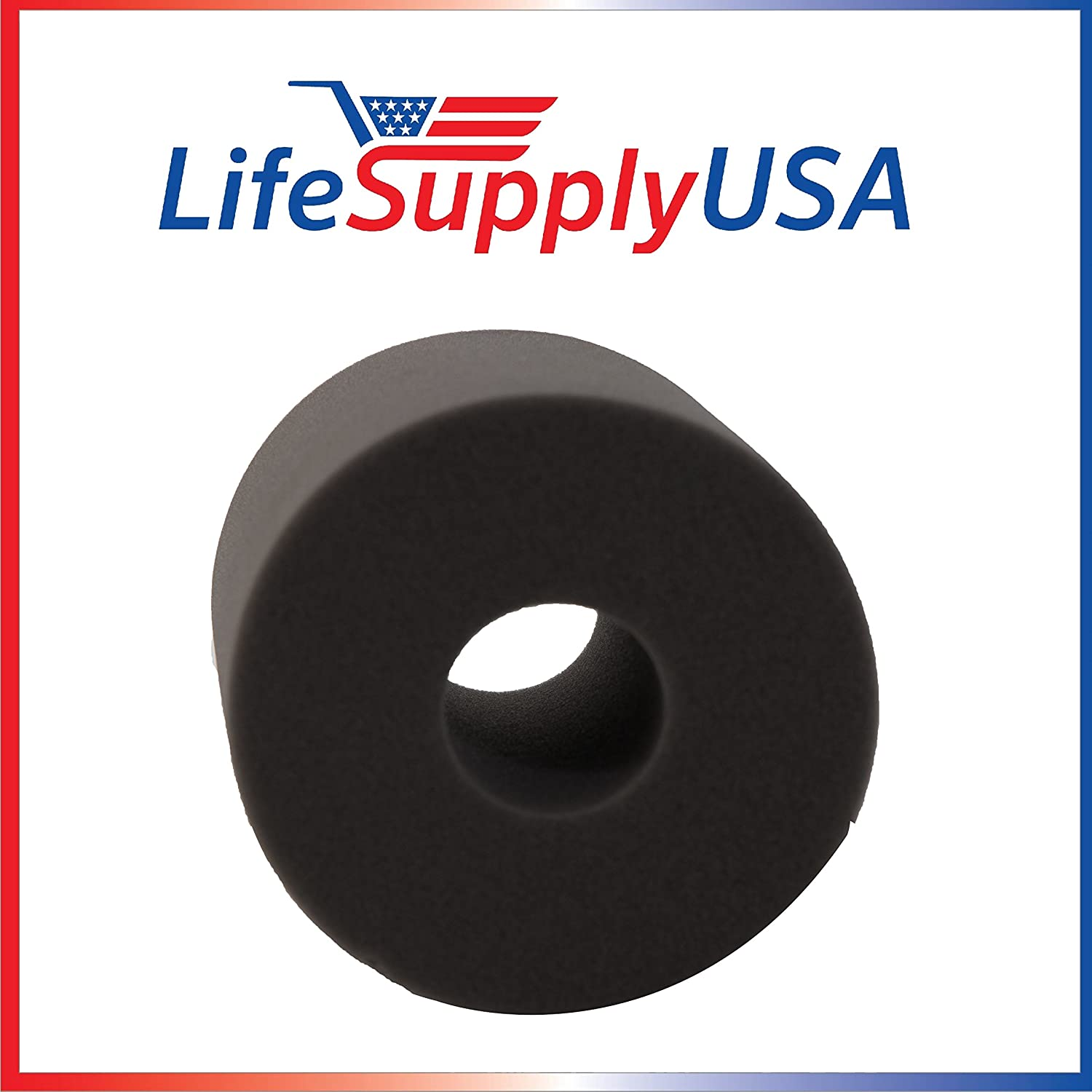 LifeSupplyUSA 2 Pack 6 x 6 inch Central Vacuum Foam Filter fits Electrolux Aerus Centralux Air Vac Hayden Vent-A-Vac M & S Broan and others by Life SupplyUSA