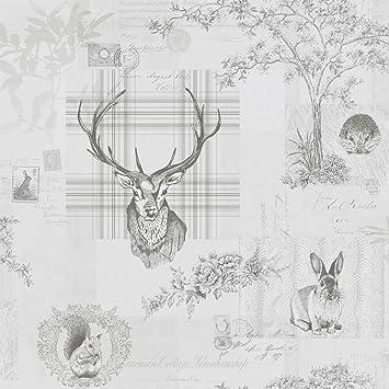 Woodland Print Wallpaper