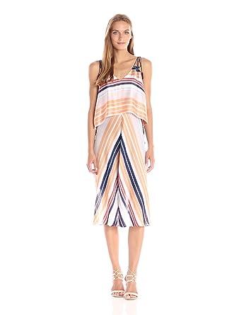 07b2d6ca358 RACHEL Rachel Roy Women's Striped Midi Popover at Amazon Women's ...
