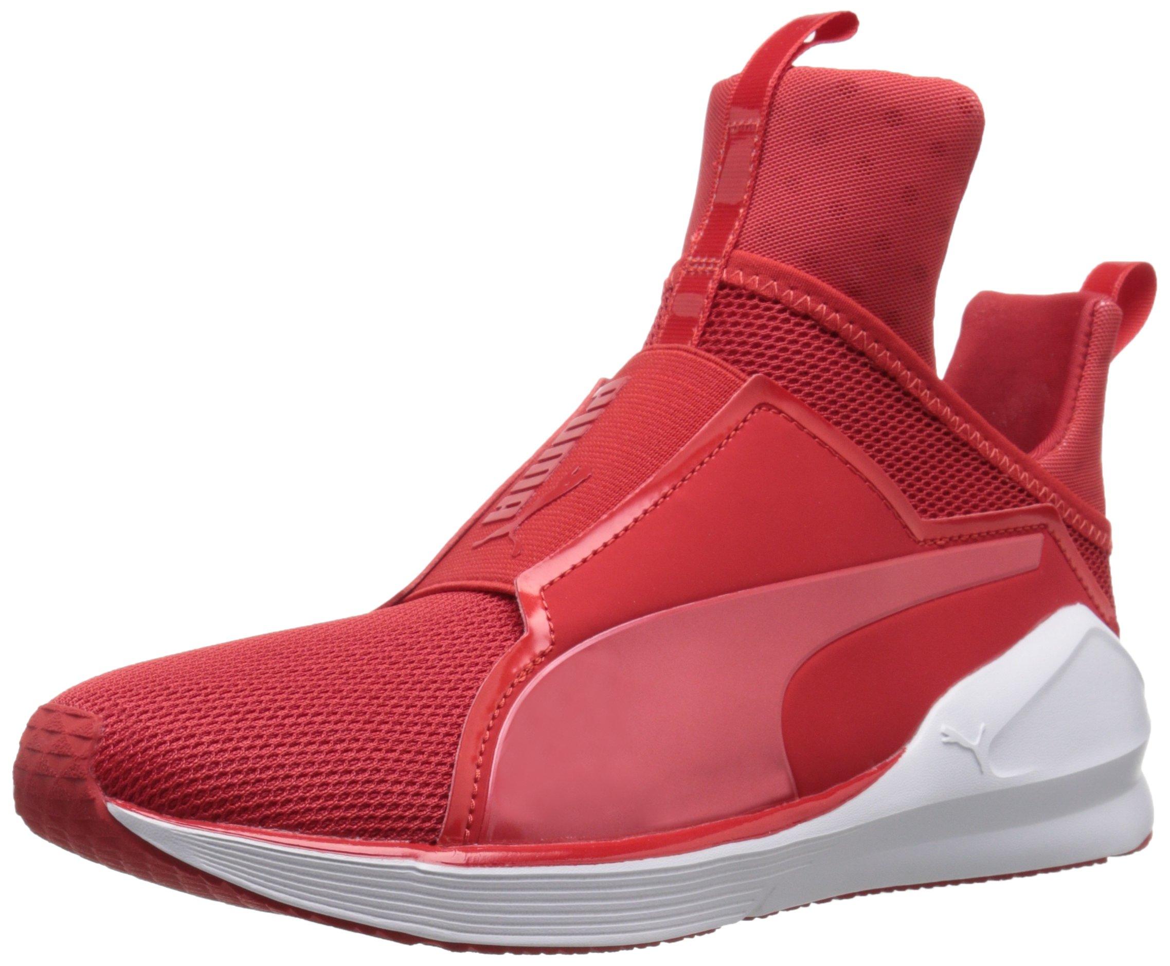 PUMA Women's Fierce Core Cross-Trainer Shoe, High Risk Red White, 7 M US