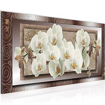 Amazon.de: Bilder Blumen Orchidee Wandbild Vlies - Leinwand Bild XXL ...