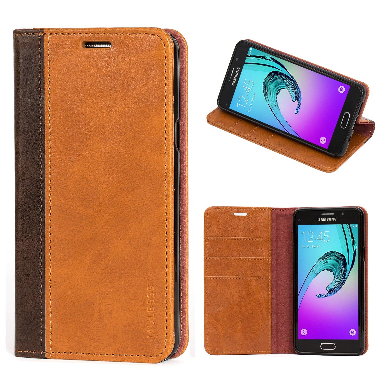 Mulbess Cover Galaxy A5 (2016) Custodia In Pelle Con Supporto per Samsung Galaxy A5 (2016) Custodia Pelle, Marrone