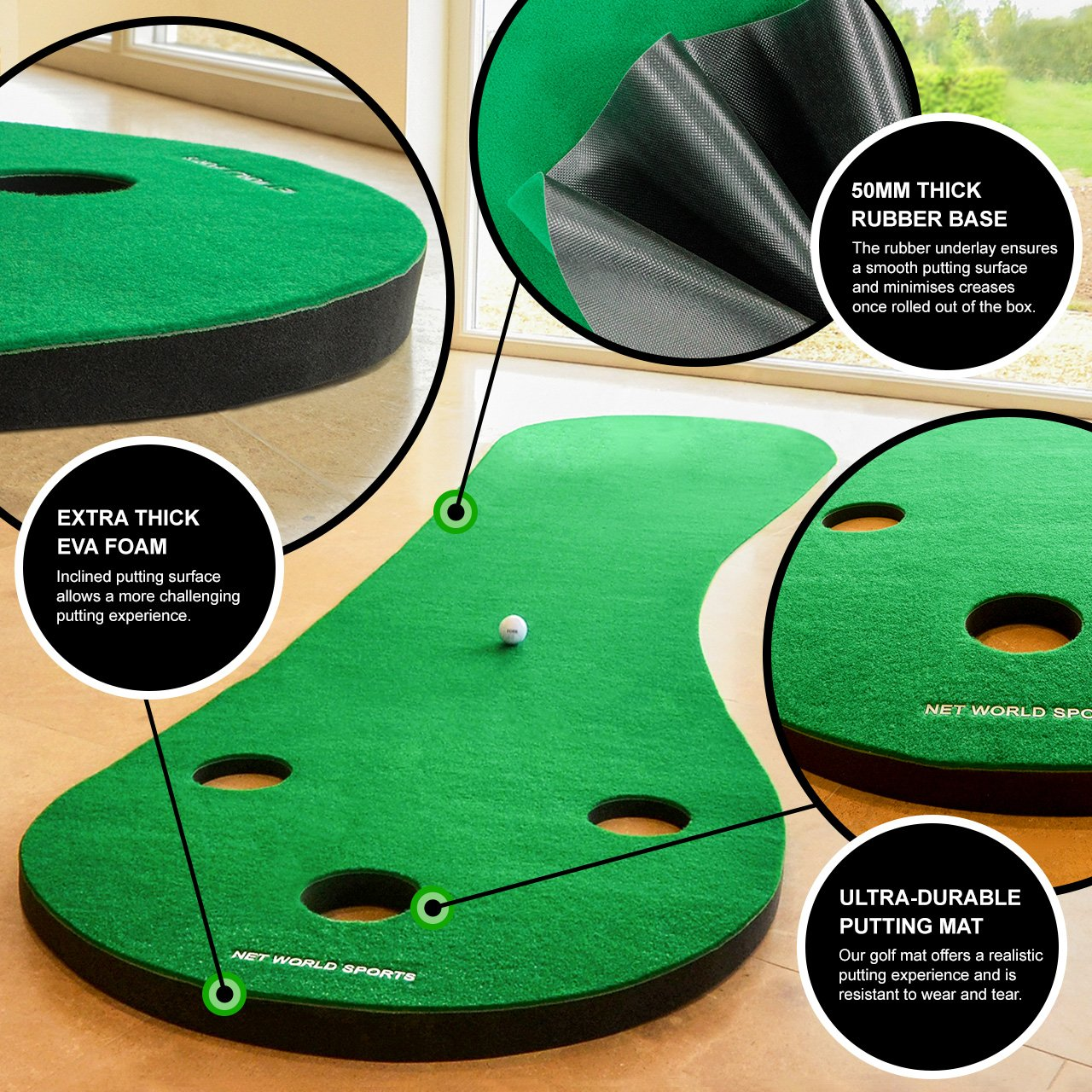 FORB Home Golf Putting Mat 10ft Long - Conquer The Green In Your Own Home! [Net World Sports] by FORB (Image #5)