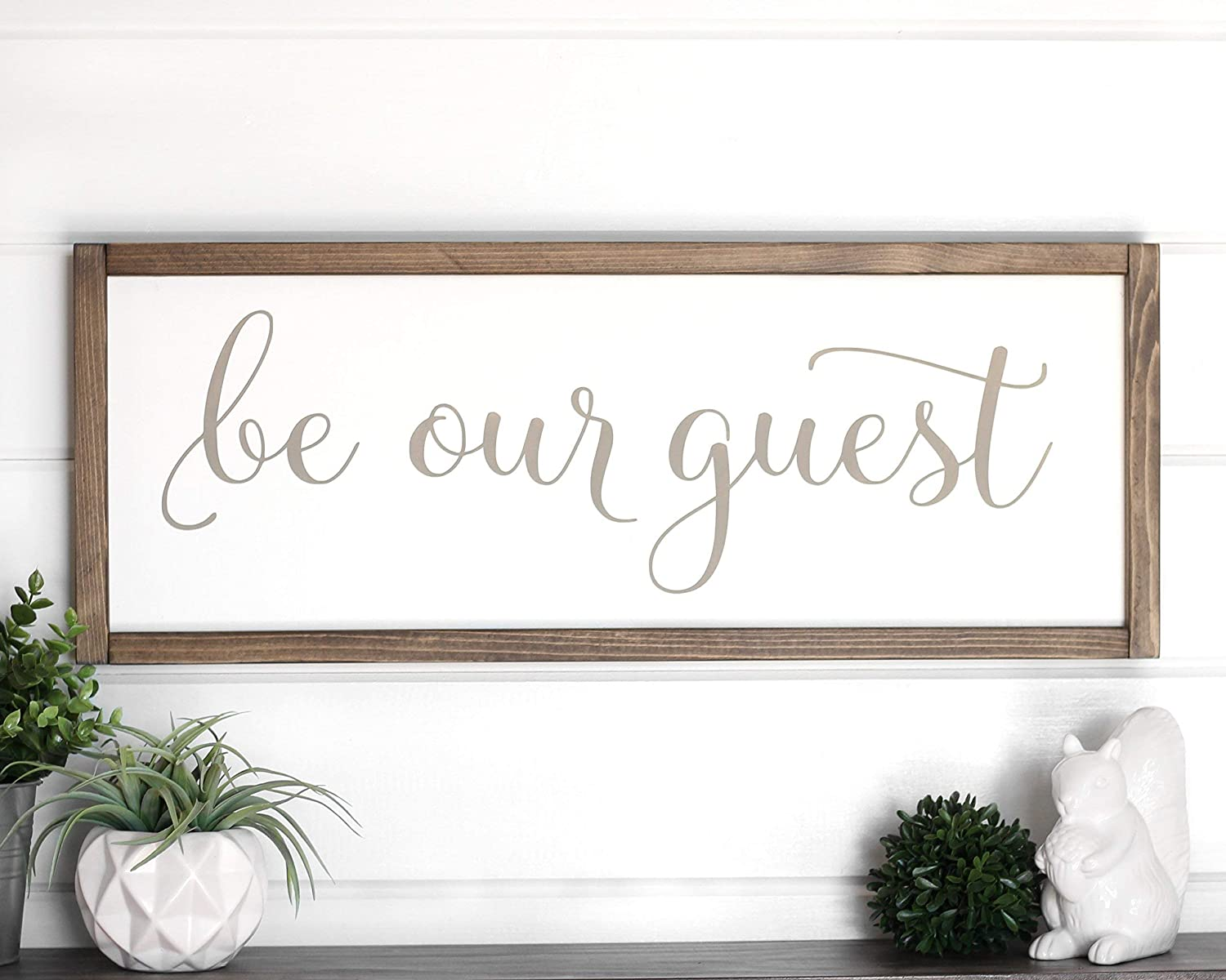 Be Our Guest Sign, Farmhouse Wall Decor, 25
