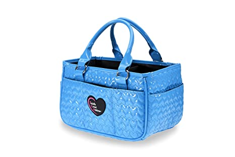 417403685722 Image Unavailable. Image not available for. Color  TGA Glossy Bright Blue  Heart Ice Skating Bag Tennis Gym and Ballet Girls Athletic Bag