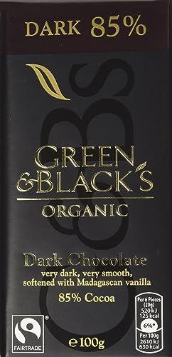 Green & Black's Dark 85% 100g Bar (Box of 5)