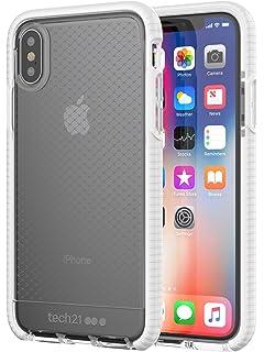 85789f12c0c Tech21 Evo Check - Carcasa para iPhone X transparente/blanco
