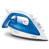 Calor FV3920C0 Fer à Repasser Vapeur Easygliss Effet Pressing jusqu'à 120g/min Semelle Durilium Anti-Goutte 2300W Bleu