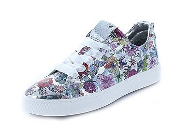 a503cd462ff065 Maripe Damen Sneaker 26552 Platformsohle Wechselfussbett Leder Crack Metal  Bunt Spring Multi EU 38