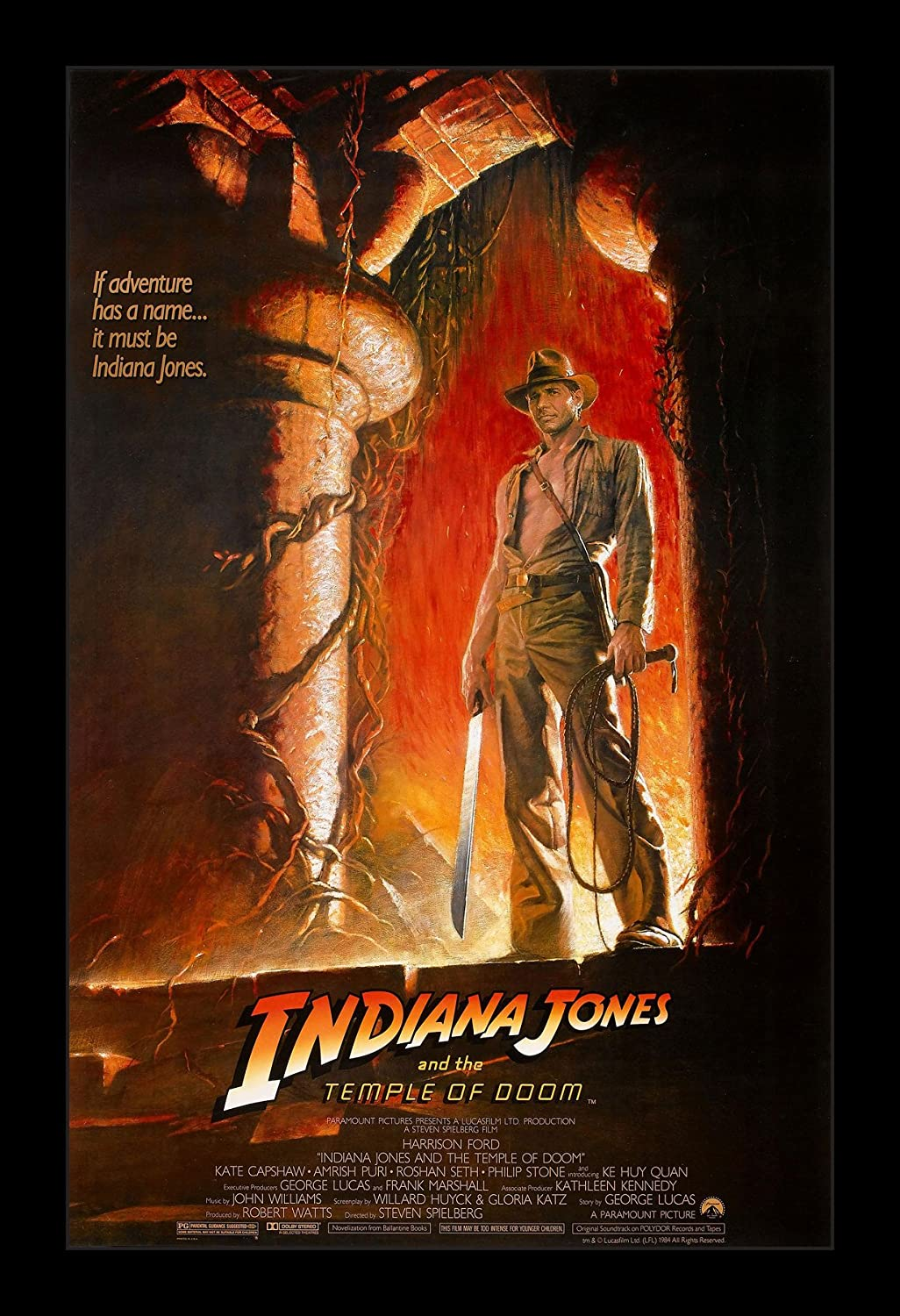 Indiana Jones and the Temple of Doom - 11x17 Framed Movie Poster by Wallspace