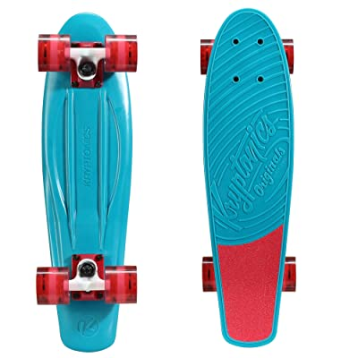 "Kryptonics Original Torpedo 22.5"" Skateboard, Aqua Blue : Sports & Outdoors"
