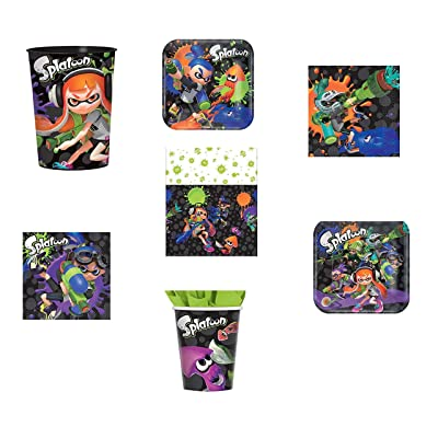 Splatoon party supplies: serves 16 Guest: Toys & Games