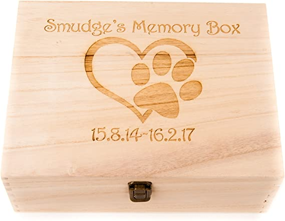 Personalised wooden box and photo album in loving memory Boxer dog gift