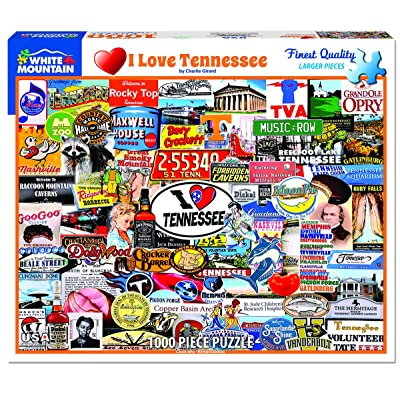 White Mountain I Love Tennessee - 1000 Piece Jigsaw Puzzle: Toys & Games