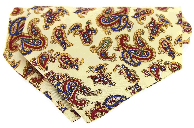 Soprano SELF-TIE Pastel Amarillo Paisley corbata de seda: Amazon ...