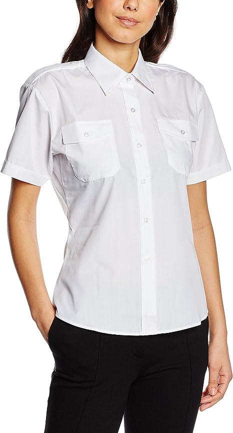 Premier Workwear Damen Ladies Short Sleeve Pilot Shirt Hemd